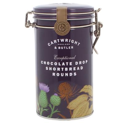 Biscuiți cu ciocolată în cutie metalică 200G0
