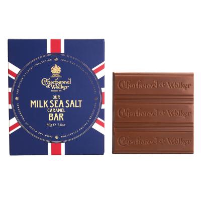 Ciocolată cu lapte și caramel sărat 80G1