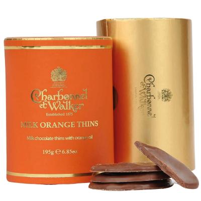 Discuri de ciocolată cu lapte și portocale 195G1