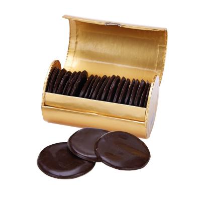 Discuri de ciocolată neagră cu mentă 195G3
