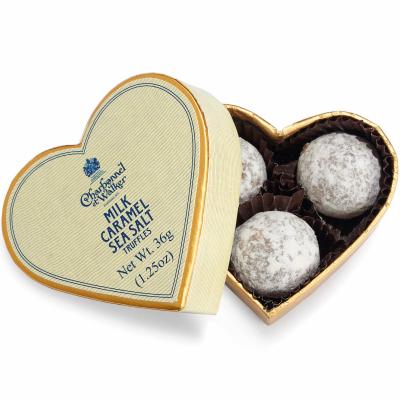 Trufe de ciocolată cu lapte și caramel sărat 36G - Inimă crem0