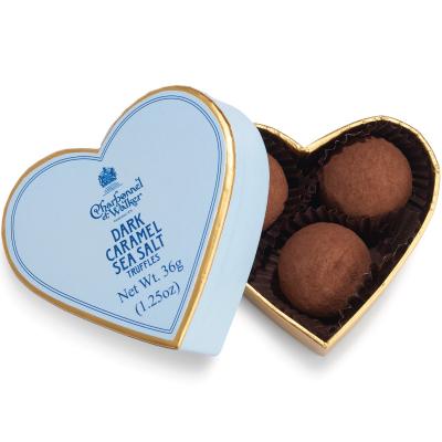 Trufe de ciocolată neagră cu caramel sărat 36G - Inimă albastră0