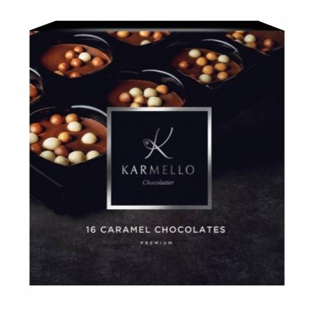 Asortiment premium 16 bomboane de ciocolată cu caramel0