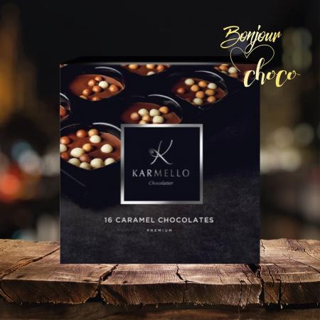 Asortiment premium 16 bomboane de ciocolată cu caramel1