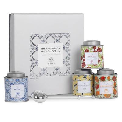 Colecția Afternoon Tea - selecție de 4 ceaiuri cu infuzor argintat1