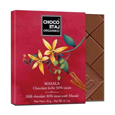 Set ciocolată organică blanco 80G3