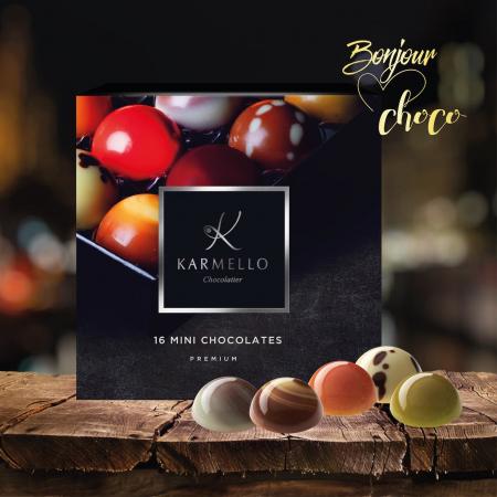 Asortiment premium 16 mini-bomboane de ciocolată cu umplutură2