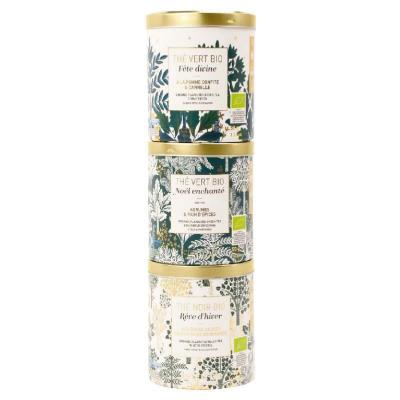 Set cadou - 3 ceaiuri organice de Crăciun 150G0