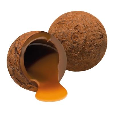 Trufe de ciocolată cu lapte și caramel sărat în cutie metalică 120G2