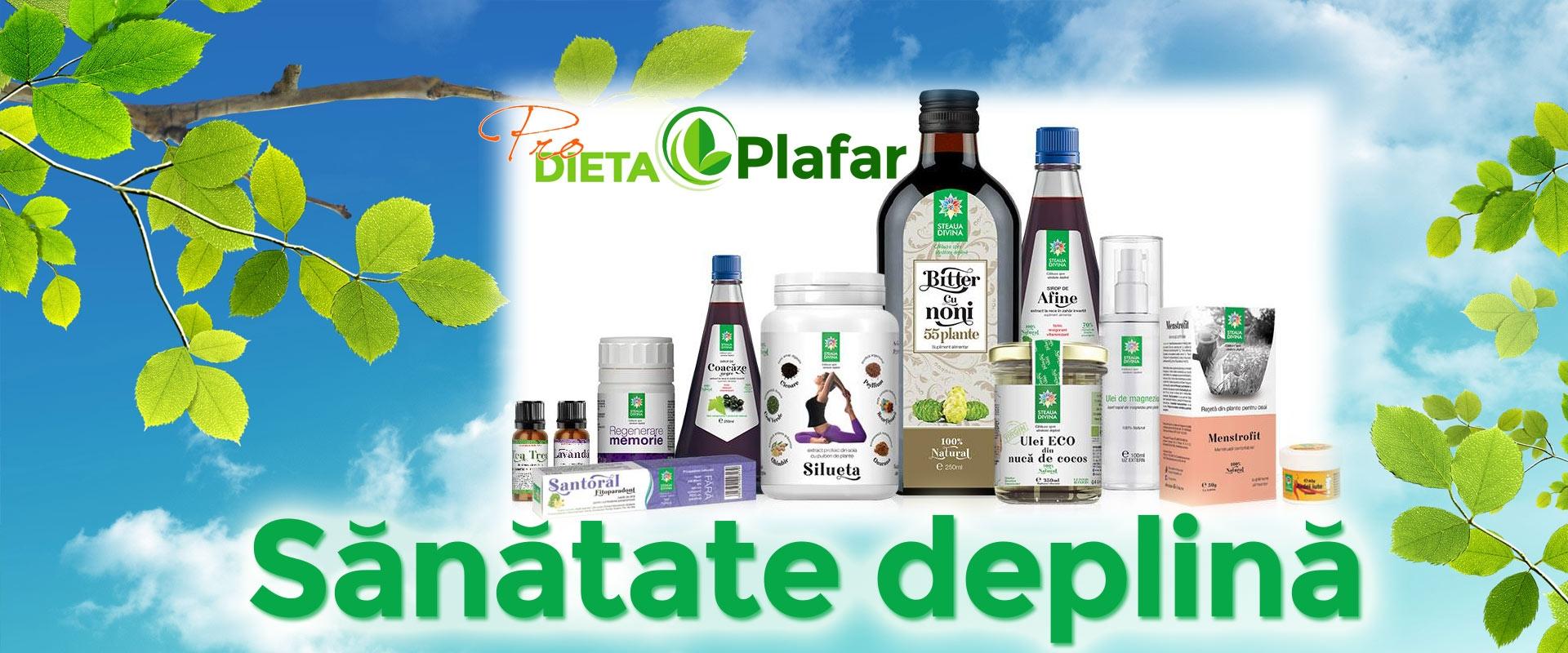 Sanatate deplina cu extracte pure din plante medicinale.