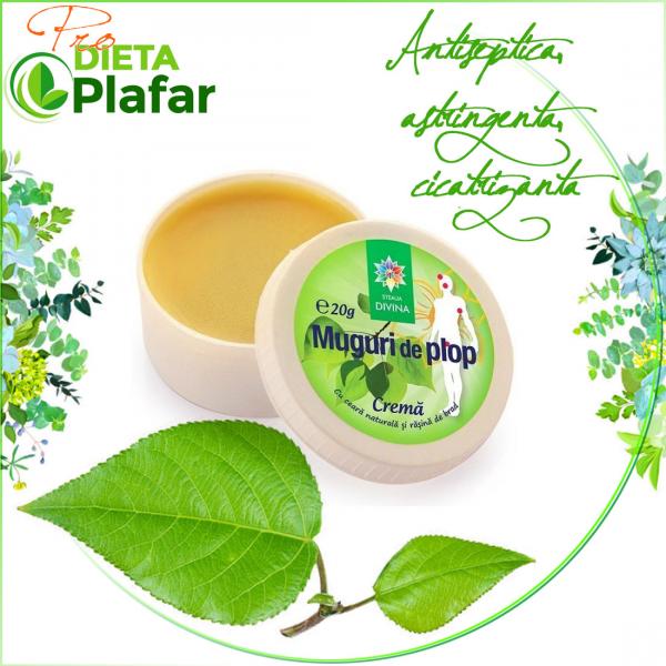 Crema de muguri de plop este produs natural pentru mentinerea sanatatii tegumentelor.