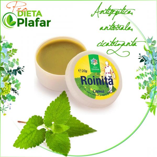 Crema naturala de roinita este recomandata pentru mentinerea starii de sanatate a pielii.