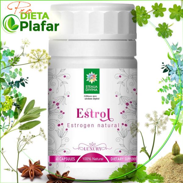 Estrogen natural Estrol este un produs natural pe bază de plante medicinale care crește estrogenul din sânge și contribuie la echilibrarea sistemului hormonal feminin.