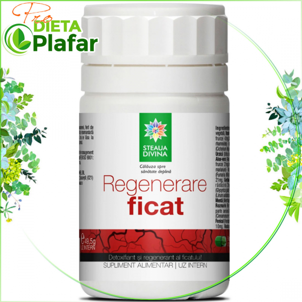 Extract plante medicinale tratament naturist regenerare ficat.
