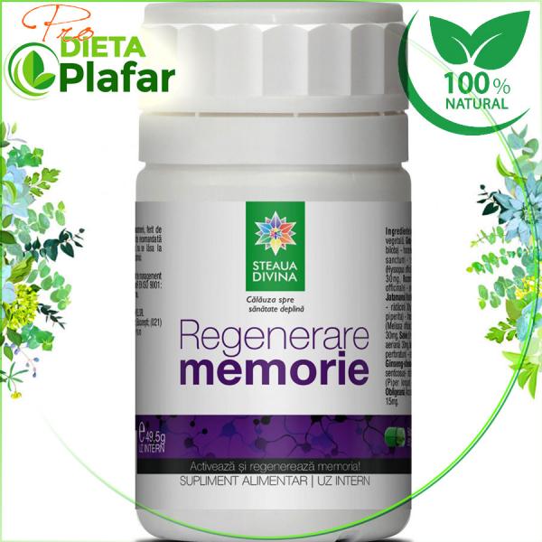 Regenerare memorie este realizat strict din plante. Cele mai eficiente plante sunt alese pentru a ajuta vascularizarea creierului și oxigenarea acestuia.