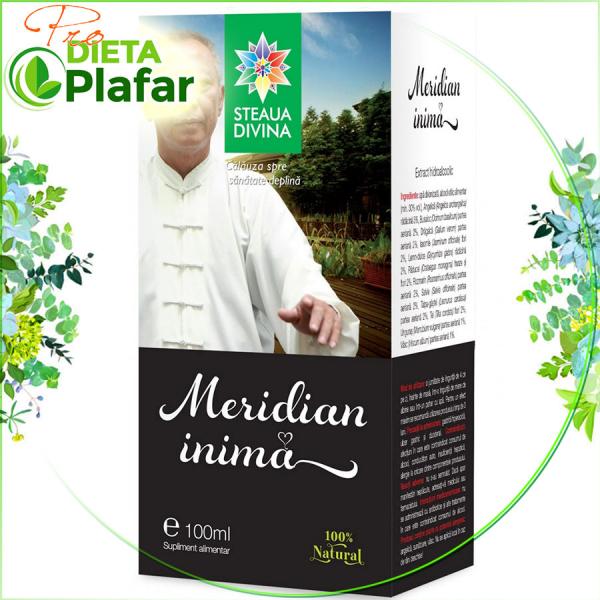 Tinctura INIMA Meridian cu angelica, iasomie, salvie, paducel 100 ml protejează inima