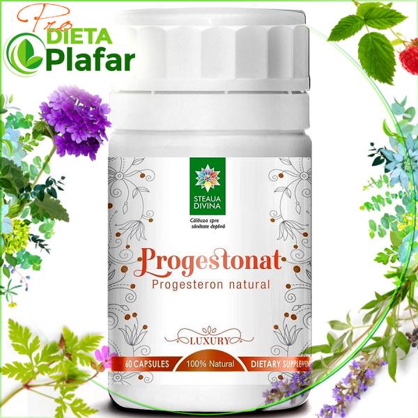 Progesteron natural Progestonat 90 cps cu 4 plante medicinale este un tratament naturist 100% Natural.