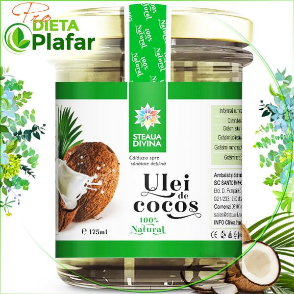 Uleiul de cocos 175 ml este disponibil acum la un preț mic