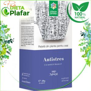 Ceai antistres din plante medicinale care ajută la alungarea stresului și a grijilor de peste zi.