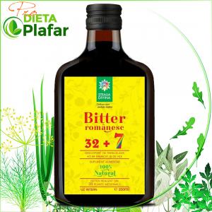 Bitter Romanesc din 32 + 7 plante medicinale 200 ml este un excelent tonic