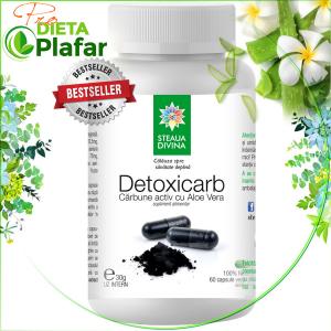Carbune activ vegetal cu aloe vera Detoxicarb pret 30 gr