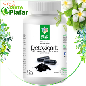 Cărbune Activ cu Aloe Vera protector gastric DETOXICARB