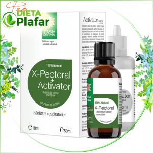 X-PECTORAL CU ACTIVATOR este expectorant, antiviral, emolient.