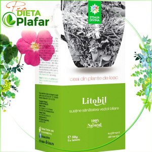 Litobil ceai 7 plante pentru sănătatea vezicii biliare 50 gr
