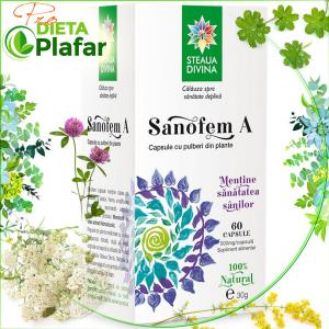 Plante medicinale tratament pentru sănătatea sânilor Sanofem 60 capsule