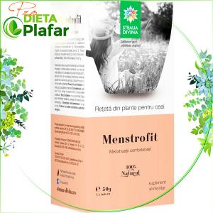 Menstrofit este un ceai calmant al durerilor menstruale 50 gr. Ajută și la diminuarea sângerărilor menstruale excesive.