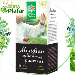 Meridian Splina-Pancreas tinctura 100 ml. Extract din 11 plante medicinale cu efect adjuvant in protectia splinei si a pancreasului