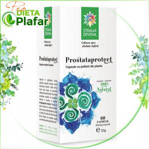 Prostaprotect. Tratament naturist pentru prostata cu capsule vegetale din plante medicinale.