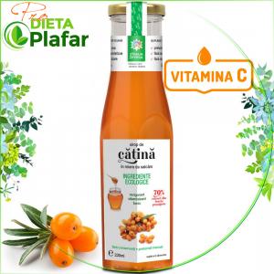 Sirop de catina cu miere bio, bogat in vitamina C. Ideal pentru tratament naturist de intarire a sistemului imunitar.