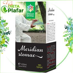 Meridian Stomac este un tratament naturist adjuvant in probleme gastrice 100 ml.