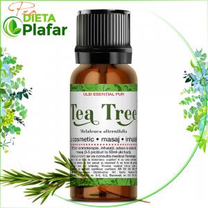 Uleiul esential de tea tree este purificator bland si rafinat si calmeaza emotiile excesive. Pret 10 ml.