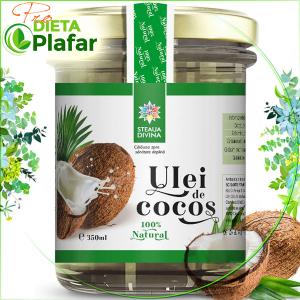 Uleiul de cocos 350 ml este disponibil acum la un preț mic