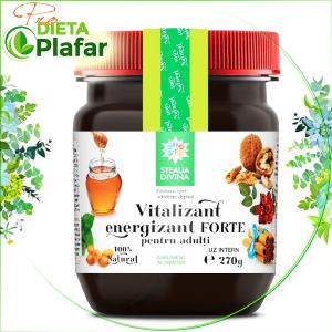 Vitaminizant cu polen, busuioc, macese, catina, nuca, susan, obligeana, lemn-dulce, cimbru, cimbrisor, scortisoara, miere