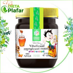 Vitalizant Energizant Forte este un produs natural pentru copii cu cătină, cimbrișor, miere, polen
