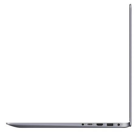 "Laptop ASUS S510UA-BQ452R cu procesor Intel® Core™ i5-8250U pana la 3.40 GHz, Kaby Lake R, 15.6"", Full HD, 8GB, 256GB M.2 SSD, Intel UHD Graphics 620, Microsoft Windows 10 Pro, Gray Metal"