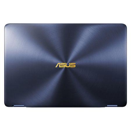 "Laptop ultraportabil ASUS ZenBook Flip UX370UA-C4195R cu procesor Intel® Core™ i7-8550U pana la 4.00 GHz, Kaby Lake R, 13.3"", Full HD, Touch, 16GB, 512GB SSD, Intel® UHD Graphics 620, Microsoft Windows 10 Pro, Blue/Sand"