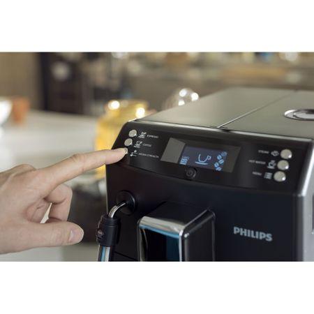 Espressor automat Philips EP3510/00, 15 bari, 1.8 l, sistem AquaClean, Sistem spumare a laptelui, 5 setari intensitate, optiune cafea macinata, Negru