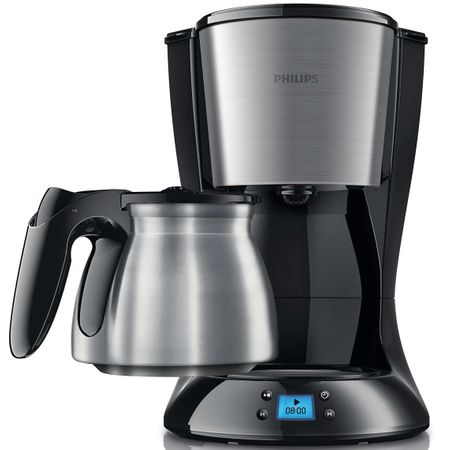 Cafetiera Philips Daily Collection HD7470/20, 1000 W, 1.2 l, 15 cesti, Negru/Inox