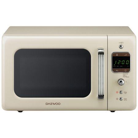 uptor cu microunde Daewoo Retro KOR-6LBRC, 20 l, 800 W, Digital, Bej