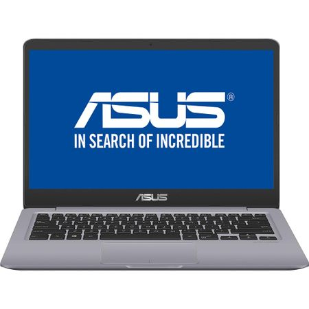 "Laptop ultraportabil ASUS S410UA-EB681 cu procesor Intel® Core™ i5-8250U pana la 3.40 GHz, Kaby Lake R, 14"", Full HD, 4GB, 1TB, Intel® UHD Graphics 620, Endless OS, Grey"