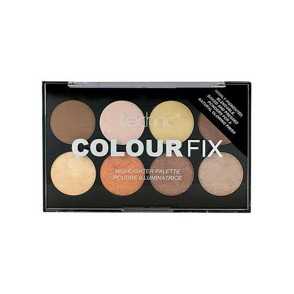 Paleta Profesionala cu 8 Iluminatoare Pudra TECHNIC Colour Fix Highlighter Palette, 15.6g-big