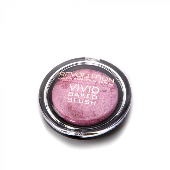 Fard de Obraz Makeup Revolution Baked Blusher - Bang Bang, 6g-big