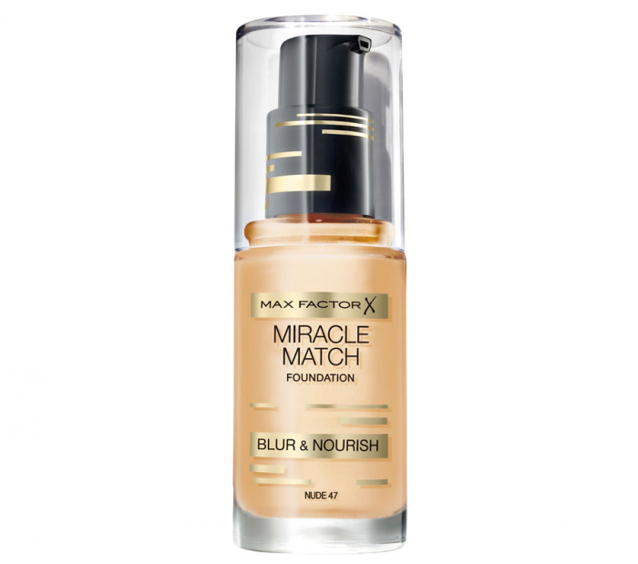 Fond de ten Max Factor Miracle Match, 47 Nude, 30 ml-big