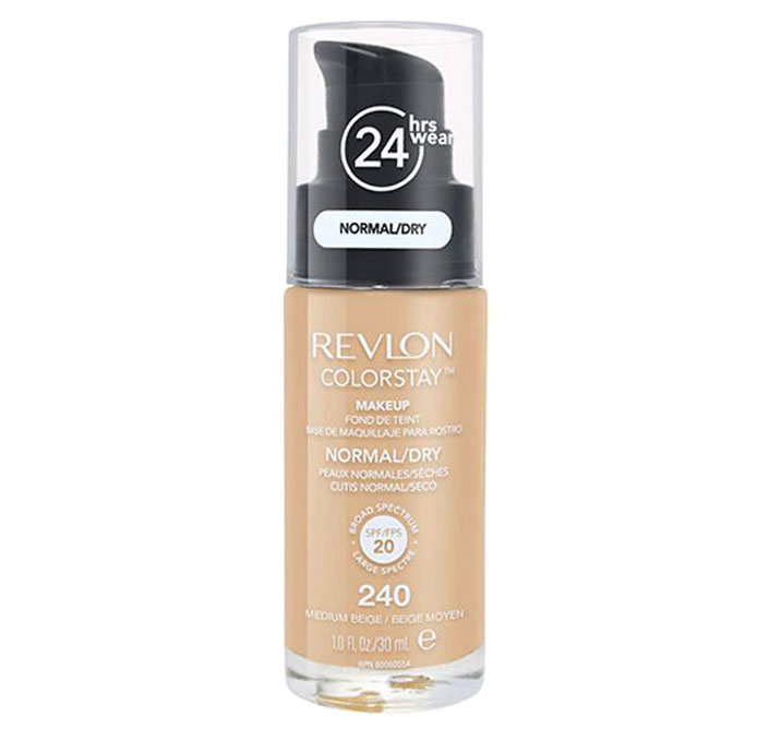 Fond De Ten Revlon Colorstay Normal / Dry Skin Cu Pompita - 240 Medium Beige, 30ml-big