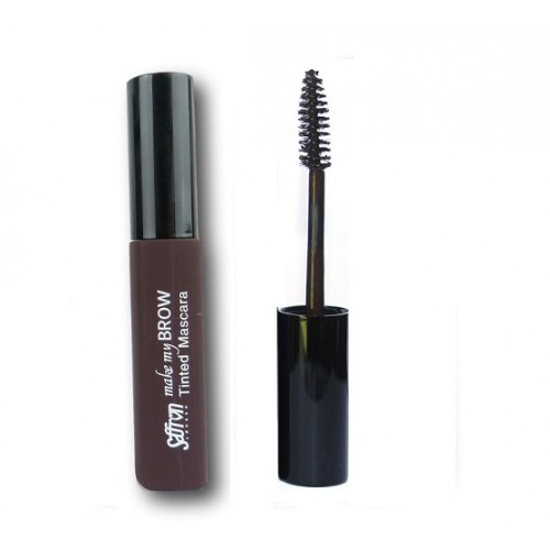 Rimel pentru conturarea sprancenelor Saffron Make My Brow Tinted Mascara - Dark Brown, 8 ml-big