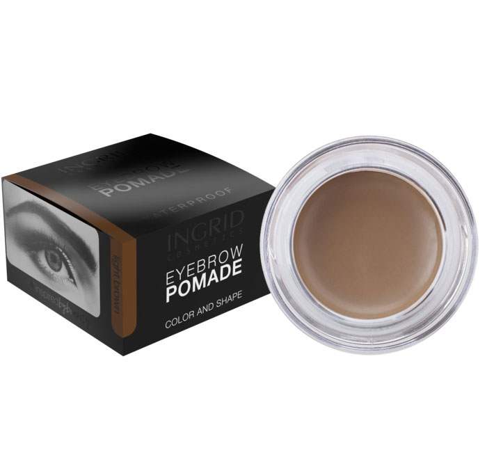 Gel Profesional pentru Sprancene INGRID Eyebrow Pomade Waterproof, Light Brown, 5g-big